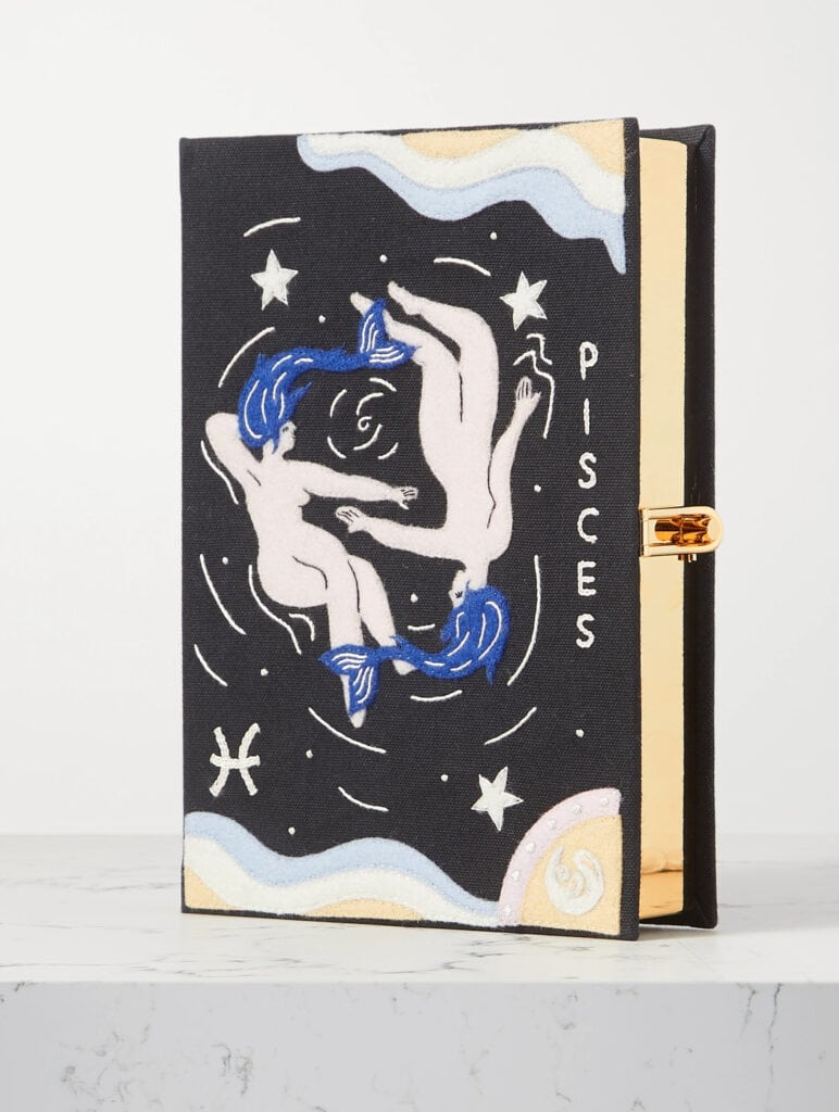 Olympia Le Tan Zodiac embroidered clutch