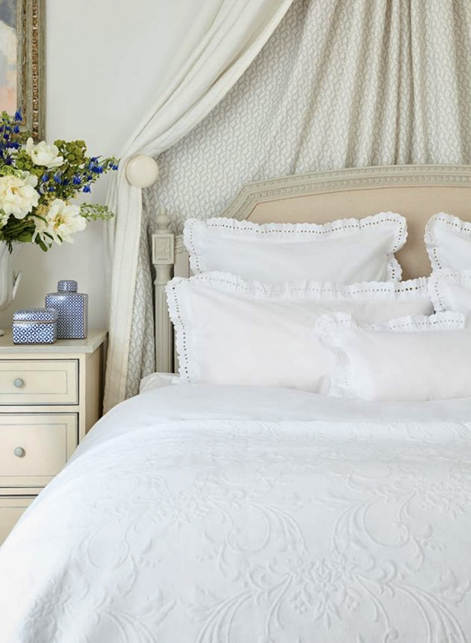 Interior designer Sophie Conran's top tips on how to style your home for winter beaumont bedlinen detail shot we