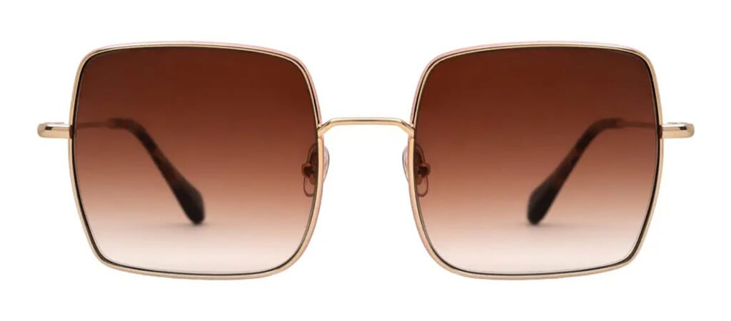 <em>The Serpent</em>: 70s fashion buys inspired by Jenna Coleman's wardrobe Brisa squared gold sunglasses