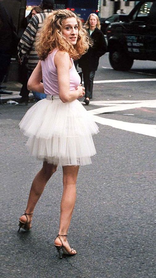 <em>Sex And The City</em> returns: We chart Carrie Bradshaw's most iconic fashion looks to buy now Carrie Bradshaw wears Tulle Tutu