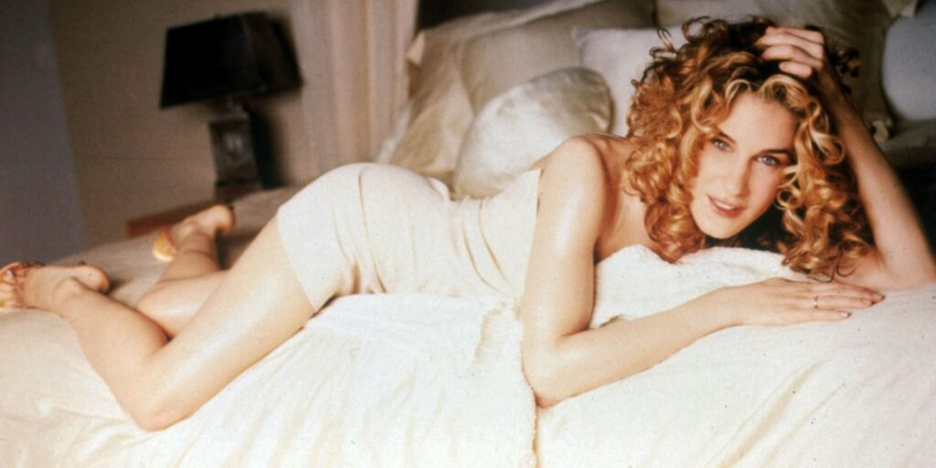<em>Sex And The City</em> returns: We chart Carrie Bradshaw's most iconic fashion looks to buy now Carrie in Slip Dress