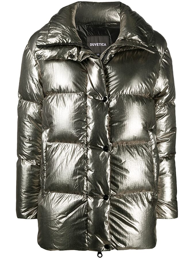 Puffer coats: The covetable and cosy duvet coats to invest in this winter Duvetica metallic puffer coat 80315 Off683 FAR