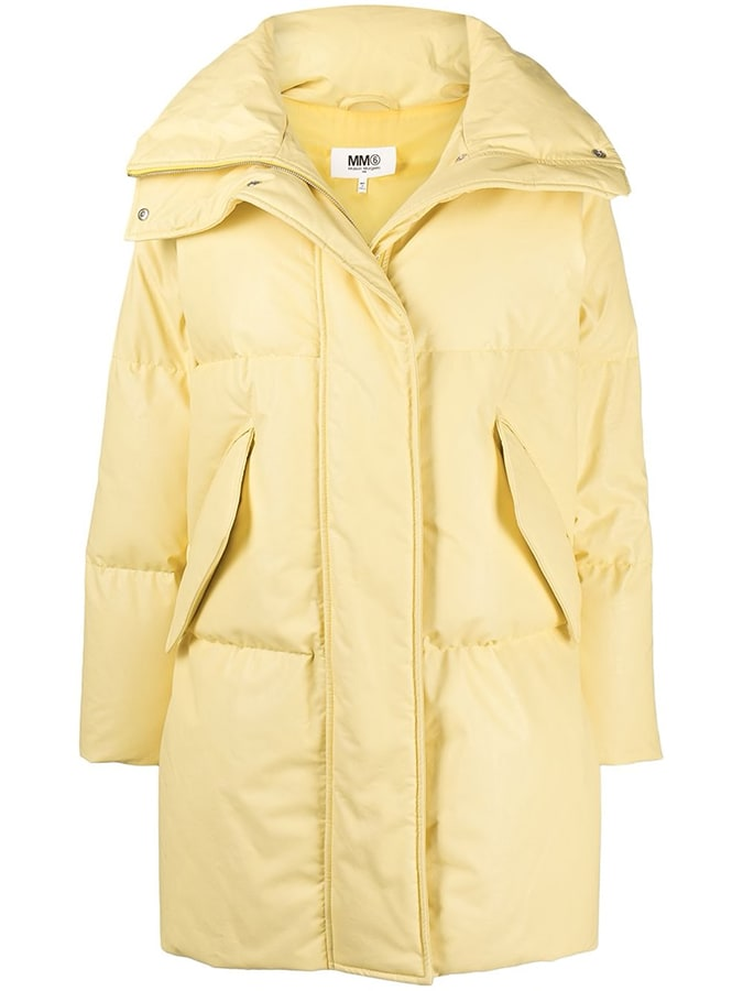 Puffer coats: The covetable and cosy duvet coats to invest in this winter MM6 Maison Margiela funnel neck high neck coat 1065 FAR