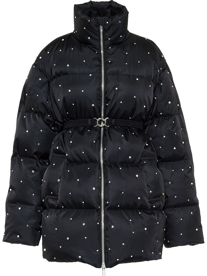Puffer coats: The covetable and cosy duvet coats to invest in this winter Miu Miu rhinestone embellished puffer coat 2600 FAR
