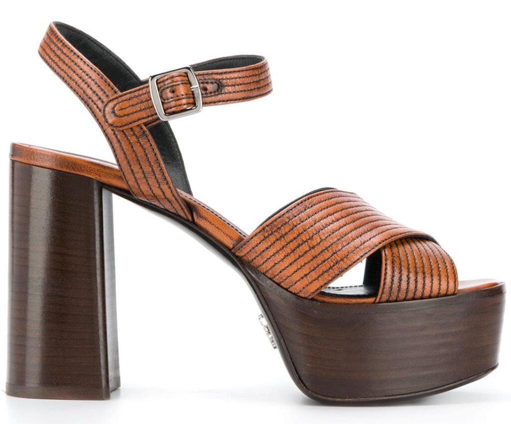 <em>The Serpent</em>: 70s fashion buys inspired by Jenna Coleman's wardrobe Prada 115mm platform sandals 740 FAR