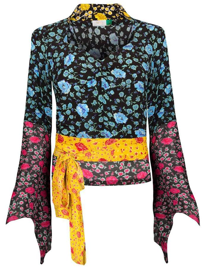 <em>The Serpent</em>: 70s fashion buys inspired by Jenna Coleman's wardrobe RIXO LAVINIA MICRO FLORAL TOP