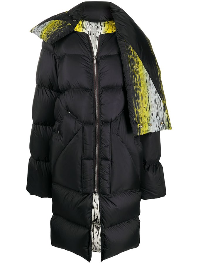 Puffer coats: The covetable and cosy duvet coats to invest in this winter Rick Owens oversized abstract print puffer coat 1860 FAR