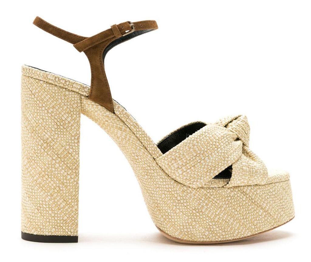 <em>The Serpent</em>: 70s fashion buys inspired by Jenna Coleman's wardrobe Saint Laurent Bianca 85mm platform sandals 660 FAR