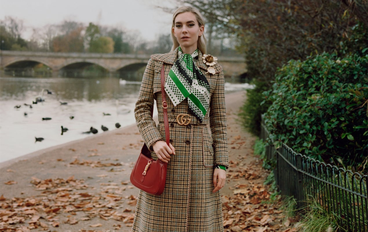 Vanessa Kirby, Alexa Chung and Celeste take a Winter in the Park walk with Gucci