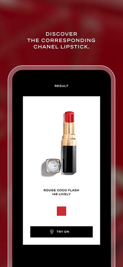 The best beauty apps and virtual try-on makeover tools to use at-home Chanel Lipscanner 02