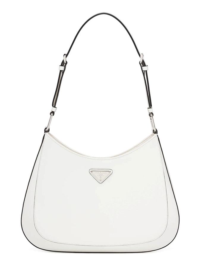 Prada Cleo briushed leather shoulder bag