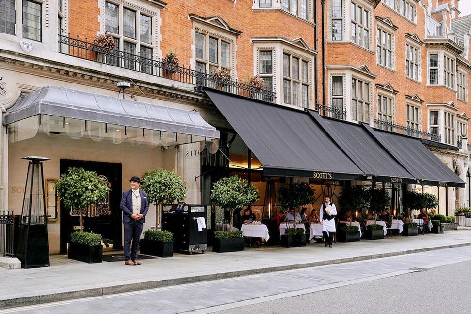 London's 26 best outdoor restaurants and terraces to book now Scotts terrace mayfair