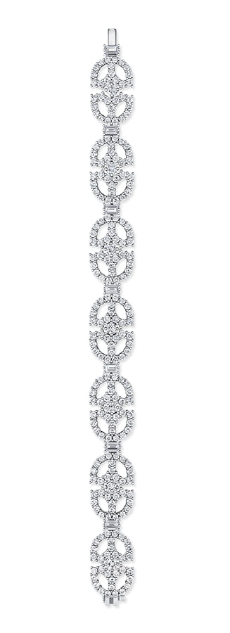 Golden Globes 2021: The stand-out jewellery on the virtual red carpet Art Deco Diamond Bracelet