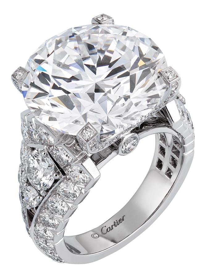 Cartier High Jewellery ring platinum diamonds