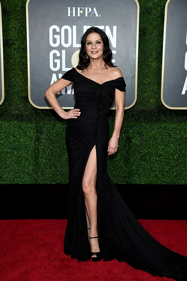 Golden Globes 2021: The stand-out jewellery on the virtual red carpet Catherine Zeta Jones attends the 78th Annual Golden Globe® Award