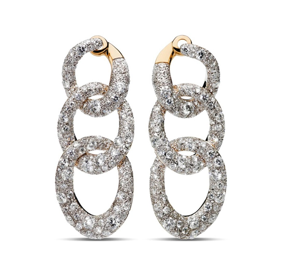 Golden Globes 2021: The stand-out jewellery on the virtual red carpet Earrings Tango RGSilver Diamond Full Pavè by Pomellato
