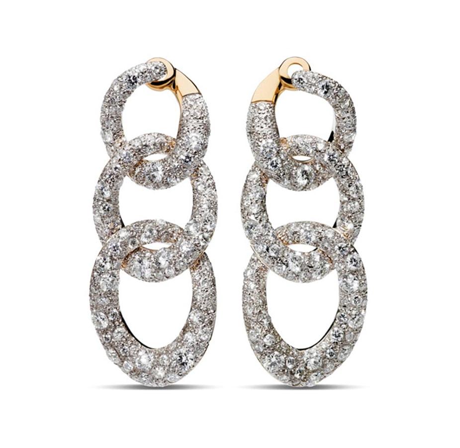 Earrings Tango RGSilver Diamond Full Pavè by Pomellato