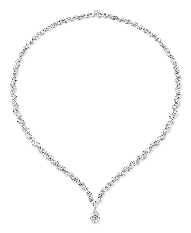 Fancy shape Diamond Necklace