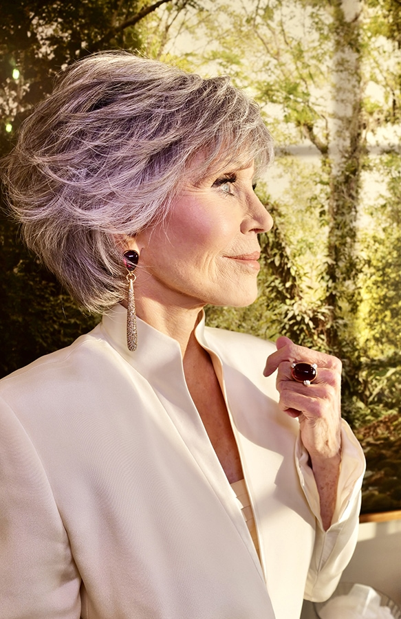 Golden Globes 2021: The stand-out jewellery on the virtual red carpet Jane Fonda 1 DEF