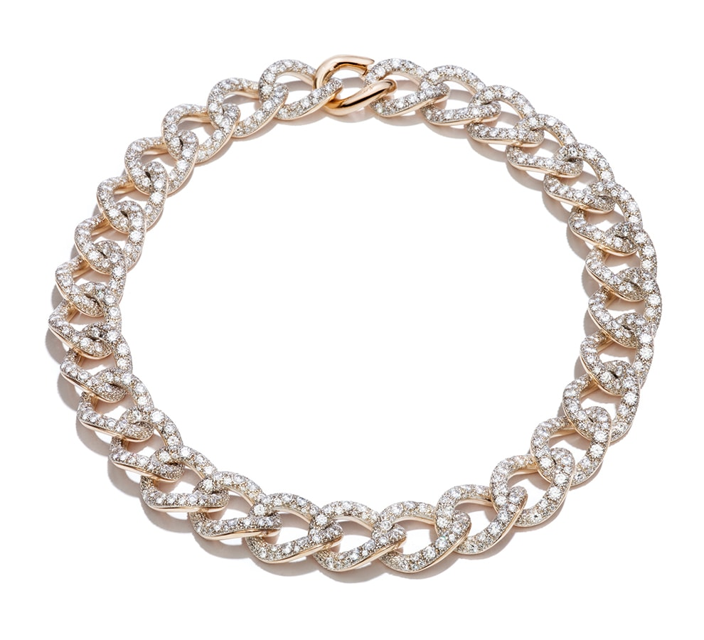 Golden Globes 2021: The stand-out jewellery on the virtual red carpet Necklace Tango RGSilver Diamond Full Pavè by Pomellato