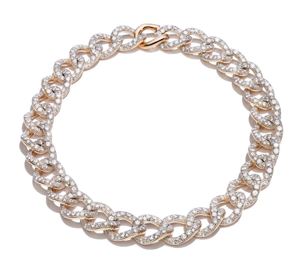 Necklace Tango RGSilver Diamond Full Pavè by Pomellato