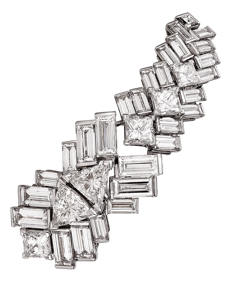 Reflection de Cartier earring 18k white gold diamonds