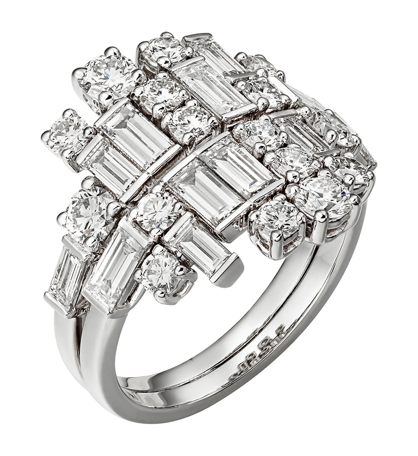 Golden Globes 2021: The stand-out jewellery on the virtual red carpet Reflection de Cartier ring 18k white gold diamonds