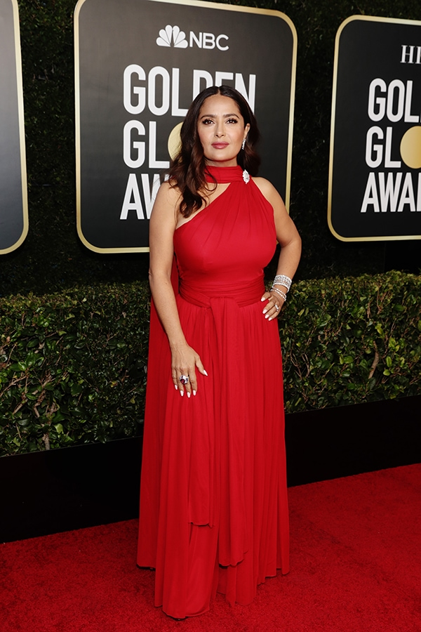 Golden Globes 2021: The stand-out jewellery on the virtual red carpet Salma Hayek GettyImages 1304622583 Original 43775
