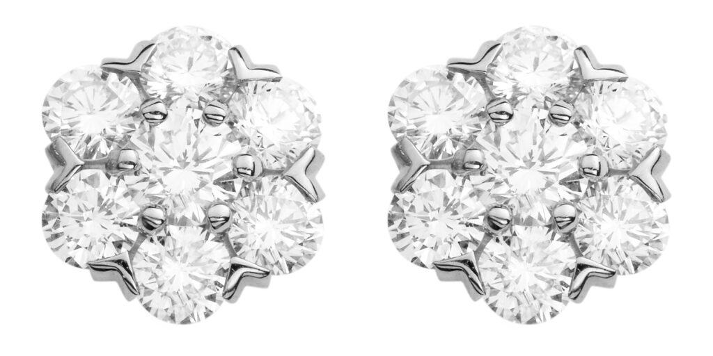 VCARA48100 FLEURETTE EARRINGS SMALL MODEL WHITE GOLD DIAMONDS 615831