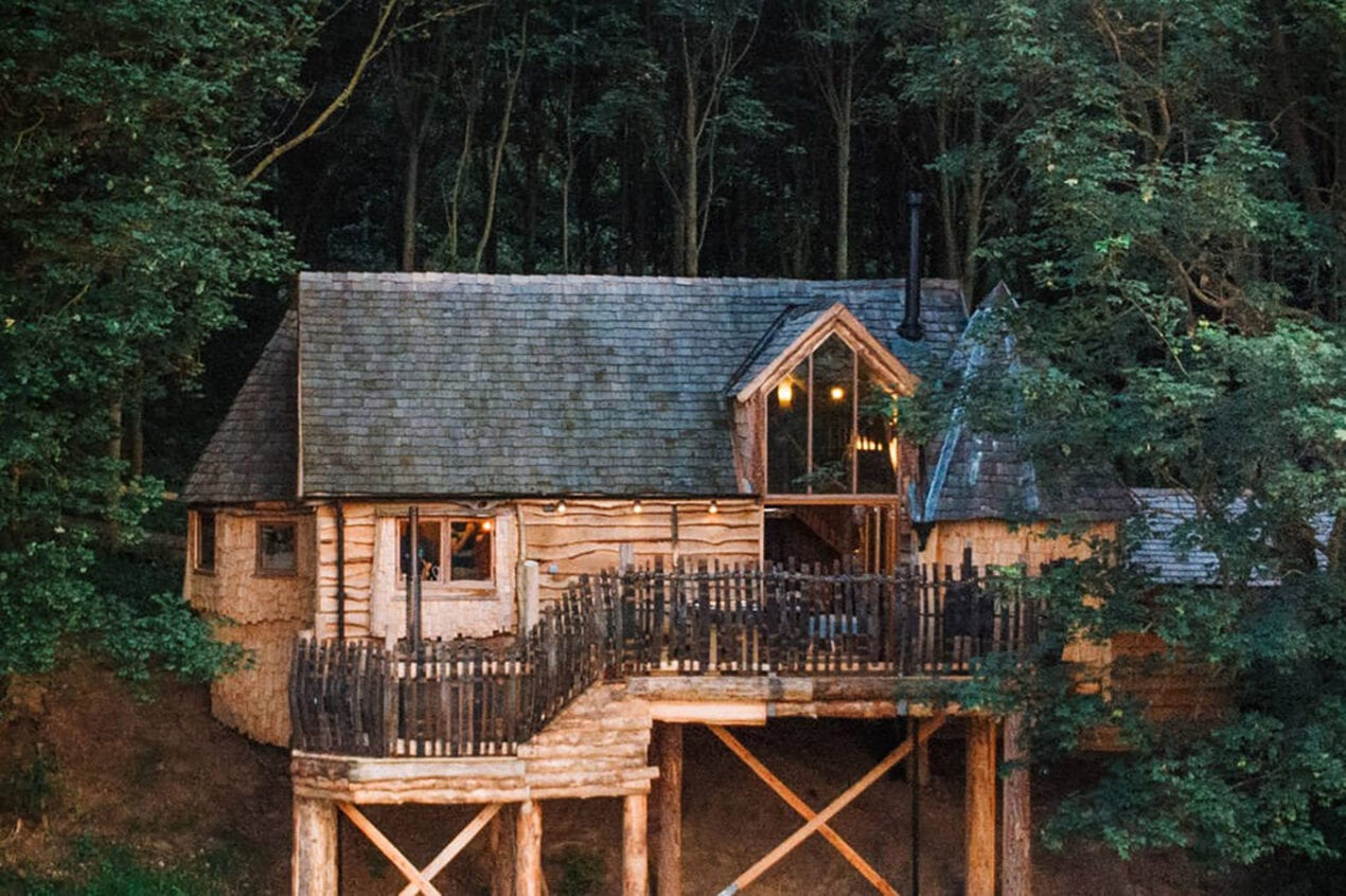 8 spectacular luxury treehouses across the UK to escape to rufus s roost drone 1crop 1024 w