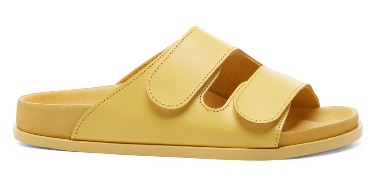 The most covetable new fashion collections launching this April Birkenstock x Toogood The Forager yellow leather slides