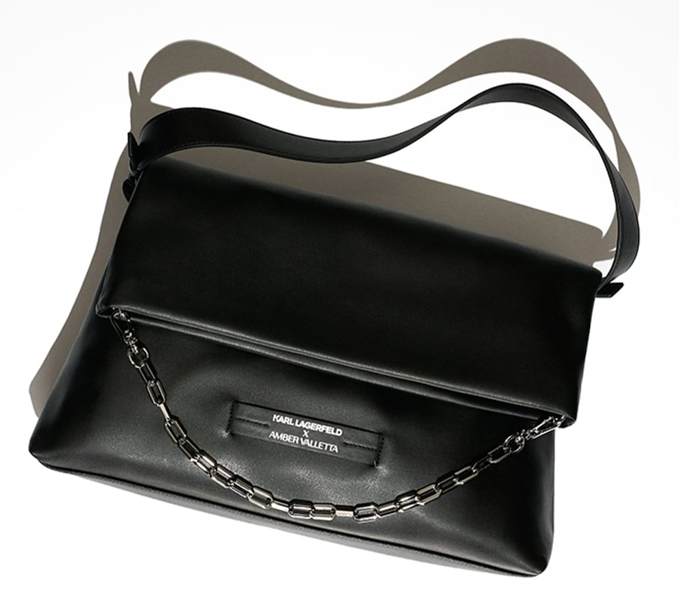 The most covetable new fashion collections launching this April Karl Lagerfeld x Amber Valleta Folded Tote bag