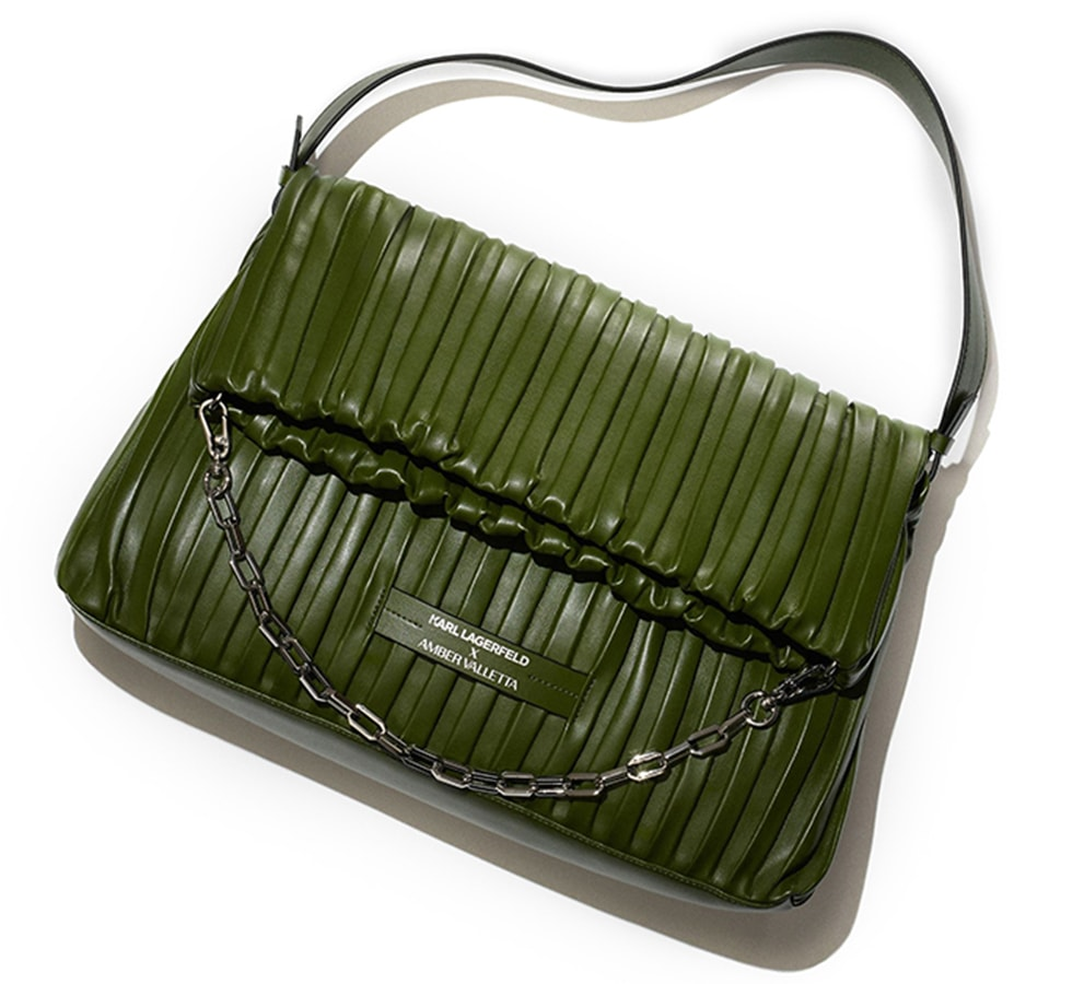 The most covetable new fashion collections launching this April Karl Lagerfeld x Amber Valleta Pleated Folded tote bag