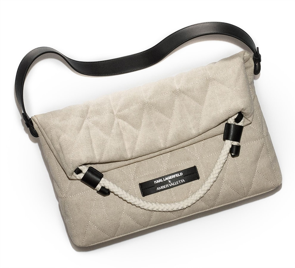 The most covetable new fashion collections launching this April Karl Lagerfeld x Amber Valleta Quilted Folded tote bag