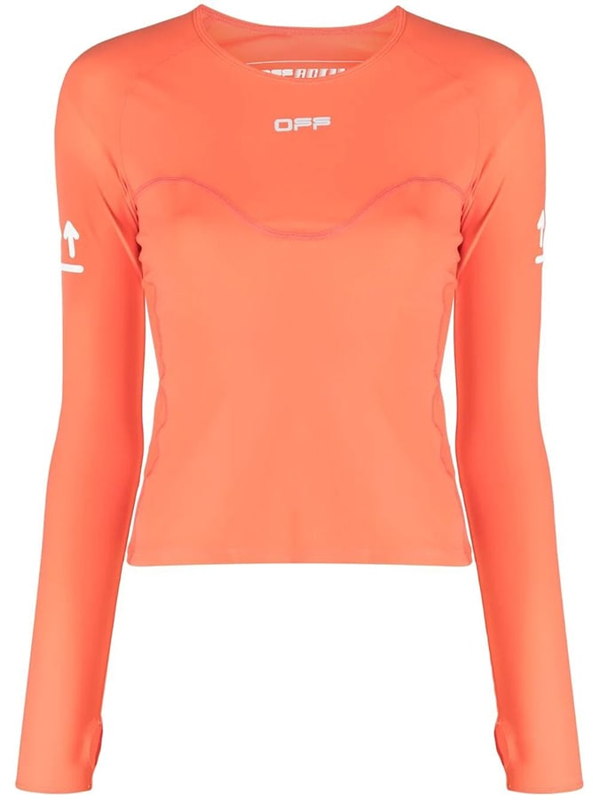 The most covetable new fashion collections launching this April off white active long sleeve top coral red