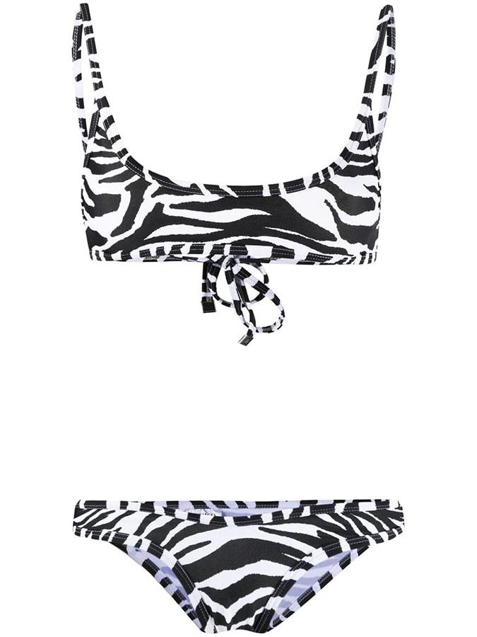 The most covetable new fashion collections launching this April the attico zebra print bikini set