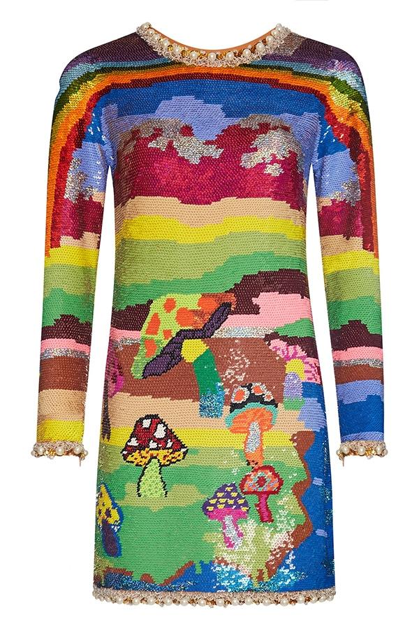 Annie's Ibiza: Fashion queen Annie Doble's favourite places to go in Ibiza Ashish Rainbow Magic Mushroom Dress
