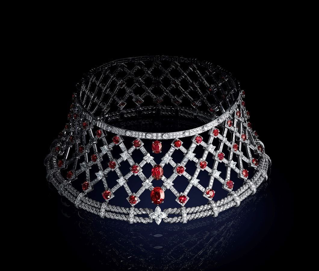 Louis Vuitton's <em>Bravery</em> high jewellery collection is a glittering tribute to the maison's founder LOUIS VUITTON BRAVERY COLLIER LA PASSION