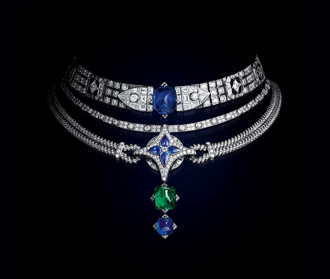 Louis Vuitton's <em>Bravery</em> high jewellery collection is a glittering tribute to the maison's founder LOUIS VUITTON BRAVERY COLLIER LE MYTHE BIS