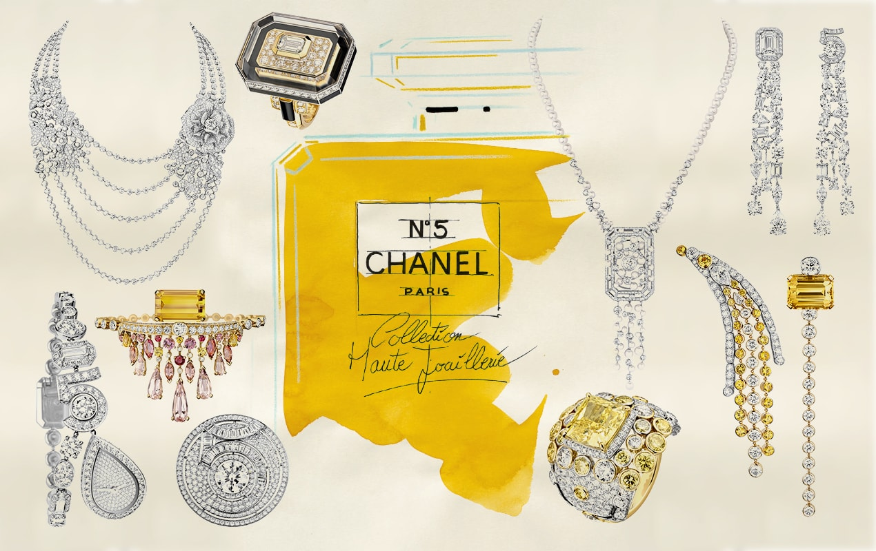 Chanel showed a spectacular No 5 high jewellery collection during Paris Fashion Week to celebrate its centenary 100th birthday